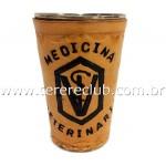 Copo em Couro  250ml - Med. Veterinária