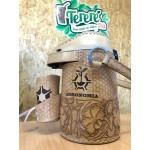 Garrafa Térmica Inox 2,5L Encourada Floral Artesanal - Personalize